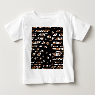 Brown artistic abastraction baby T-Shirt