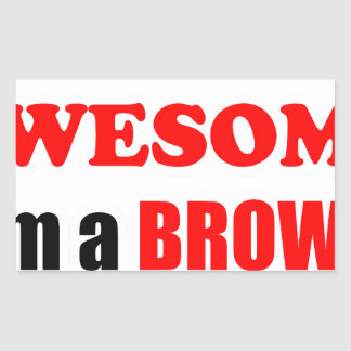 Brown Awesome Family Stickers
