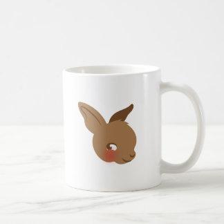 brown baby rabbit face coffee mug