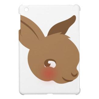 brown baby rabbit face iPad mini cases