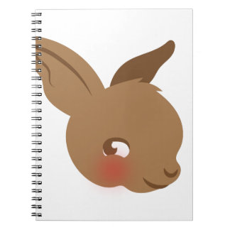 brown baby rabbit face notebooks