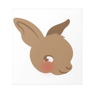 brown baby rabbit face notepad