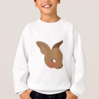 brown baby rabbit face sweatshirt