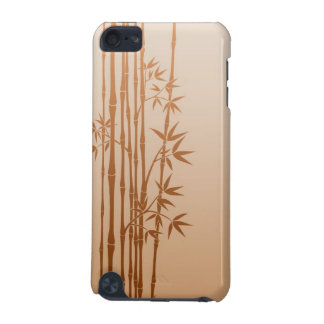 Brown Bamboo Sticks with Leaves iPod Touch 5G Cover