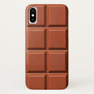 Brown Bar of Chocolate iPhone X Case