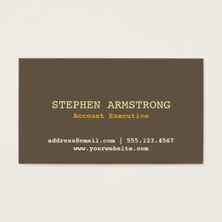 Brown bark simply modern professional executive business card