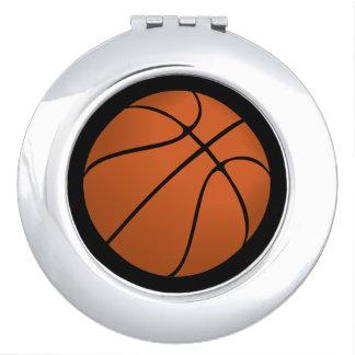 Brown Basketball Ball on Black Compact Mirrors