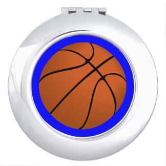 Brown Basketball Ball on Blue Mirrors For Makeup