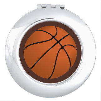 Brown Basketball Ball on Brown Makeup Mirrors