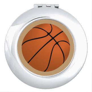 Brown Basketball Ball on Camel Brown Makeup Mirror