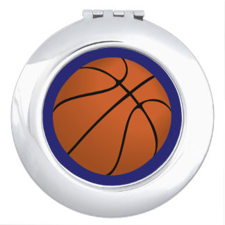 Brown Basketball Ball on Midnight Blue Mirror For Makeup