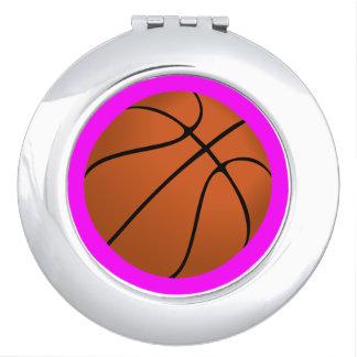 Brown Basketball Ball on Pink Mirror For Makeup