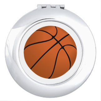 Brown Basketball Ball on White Vanity Mirror