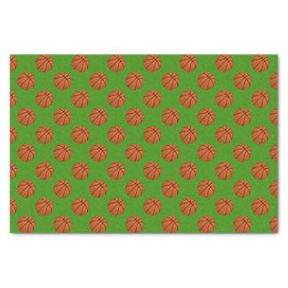 Brown Basketball Balls on Apple Green Tissue Paper