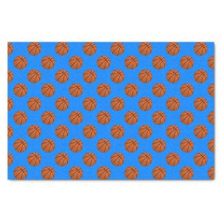 Brown Basketball Balls on Azure Blue Tissue Paper