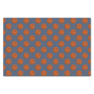 Brown Basketball Balls on Blue Jeans Blue Tissue Paper