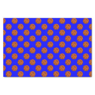 Brown Basketball Balls on Blue Tissue Paper