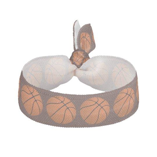 Brown Basketball Balls on Brown Hair Ties