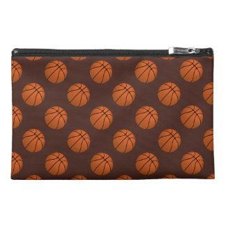 Brown Basketball Balls on Brown Travel Accessory Bag