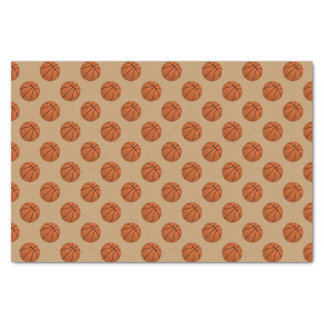 Brown Basketball Balls on Camel Brown Tissue Paper