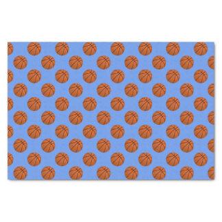 Brown Basketball Balls on Cornflower Blue Tissue Paper