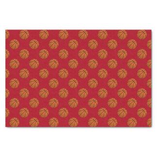 Brown Basketball Balls on Dark Red Tissue Paper