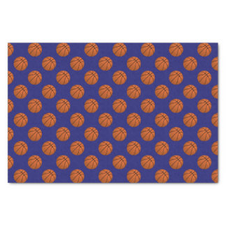 Brown Basketball Balls on Midnight Blue Tissue Paper