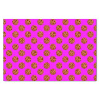 Brown Basketball Balls on Pink Tissue Paper