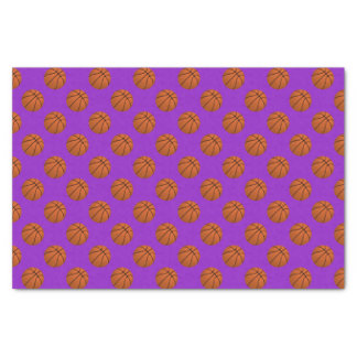Brown Basketball Balls on Purple Tissue Paper