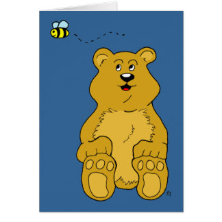 Brown Bear and Bumble Bee Card
