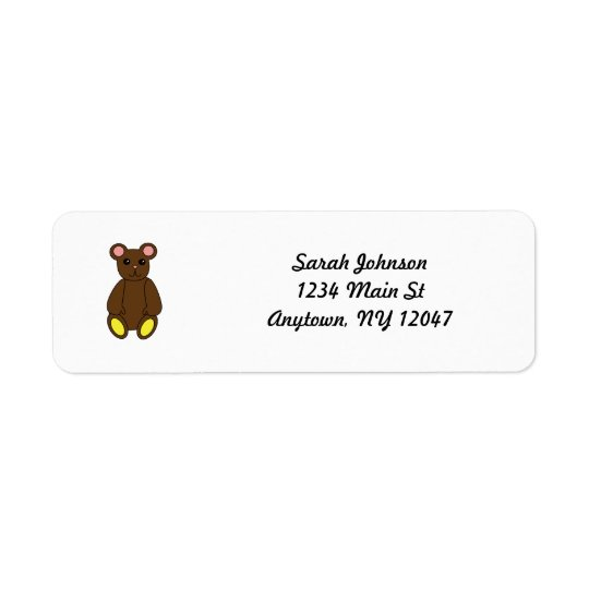 Brown Bear Avery Label