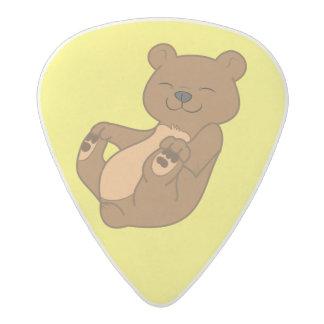 Brown Bear Cub Acetal Guitar Pick