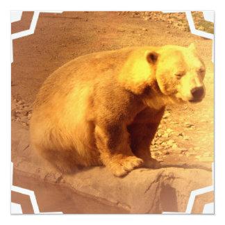 Brown Bear Cub Invitation