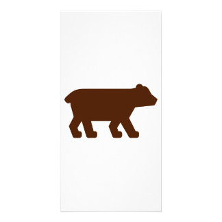 Brown bear custom photo card