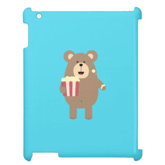 Brown Bear eating popcorn Q1Q Case For The iPad 2 3 4