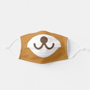 Brown Bear Face Funny Cute Animal Cartoon Cloth Face Mask