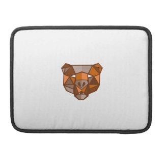 Brown Bear Head Low Polygon Sleeve For MacBook Pro