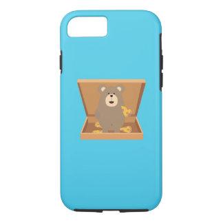 Brown Bear in Pizzabox Q1Q iPhone 8/7 Case