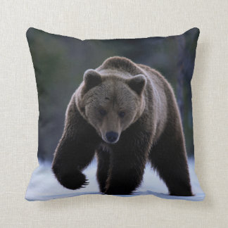 BROWN BEAR IN THE SNOW PILLOW CUSHION