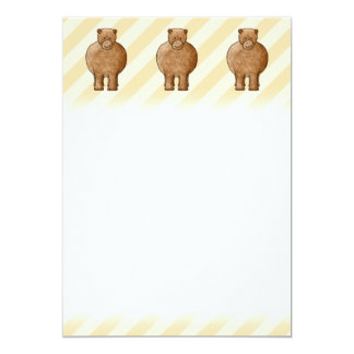 Brown Bear. Personalized Announcement