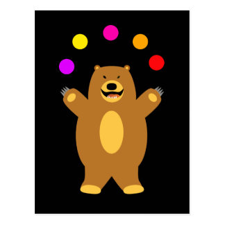 Brown Bear Juggling Postcard