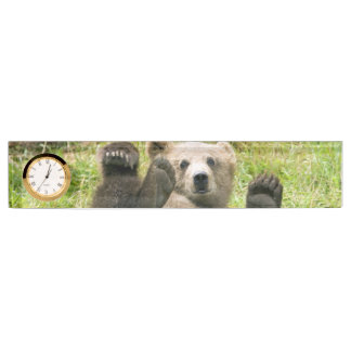Brown Bear Kodiak Cub Gifts Nameplate