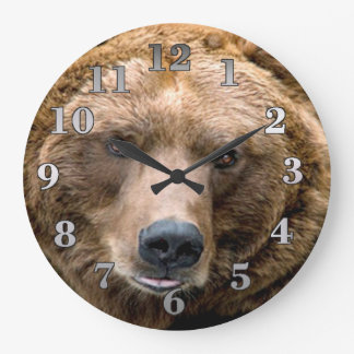 Brown Bear Large Clock