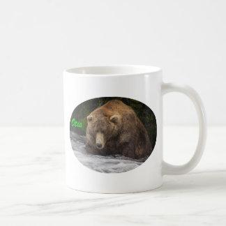 Brown Bear Otis Fishing Coffee Mug