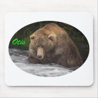 Brown Bear Otis Fishing Mouse Pad