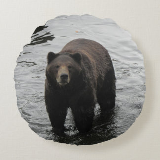 Brown Bear Round Pillow