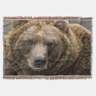 Brown Bear Throw Blanket