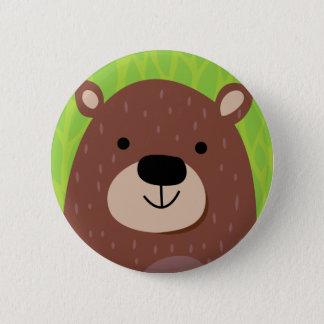 Brown Bear - Woodland Friends 2 Inch Round Button