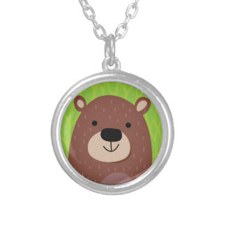 Brown Bear - Woodland Friends Silver Plated Necklace