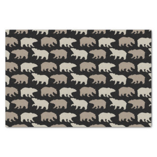 Brown Bears Tissue Paper